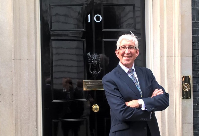John Mortimer, SWLEP Chairman, outside No10 Downing Street