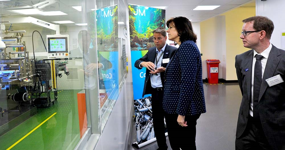Energy Minister Claire Perry tours Johnson Matthey