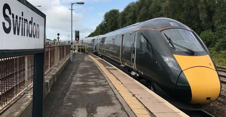 High Speed Train at Swindon Station