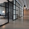 Airy and large corridor in office building.