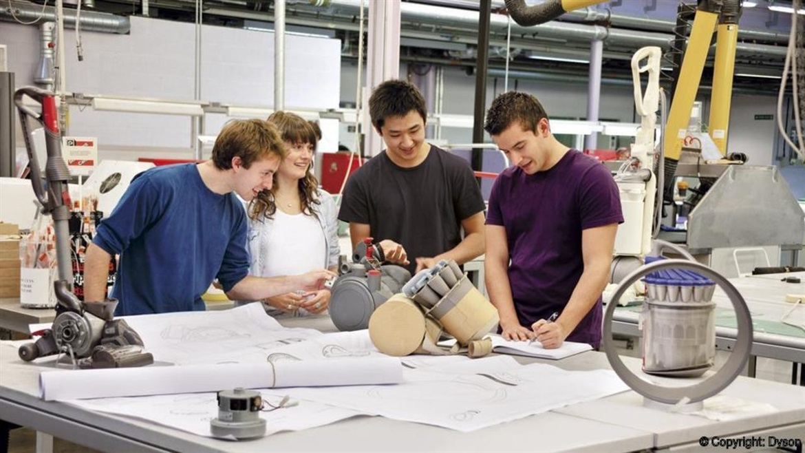 dyson engineers working