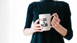 brooke-lark with mug