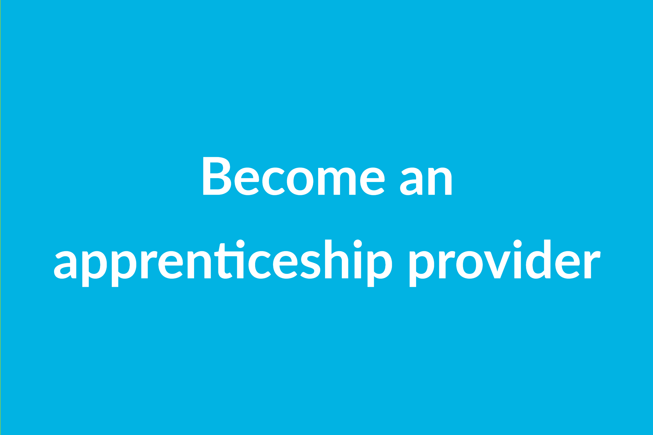 Become an apprenticeship provider